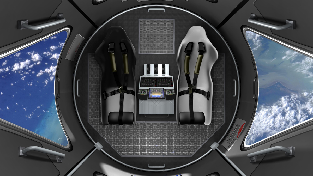 Space Adventures' Suborbital Vehicle Interior 6