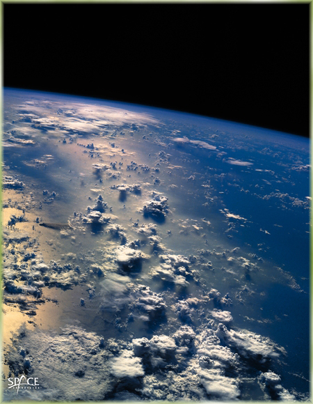 View of Earth from a Suborbital Vehicle