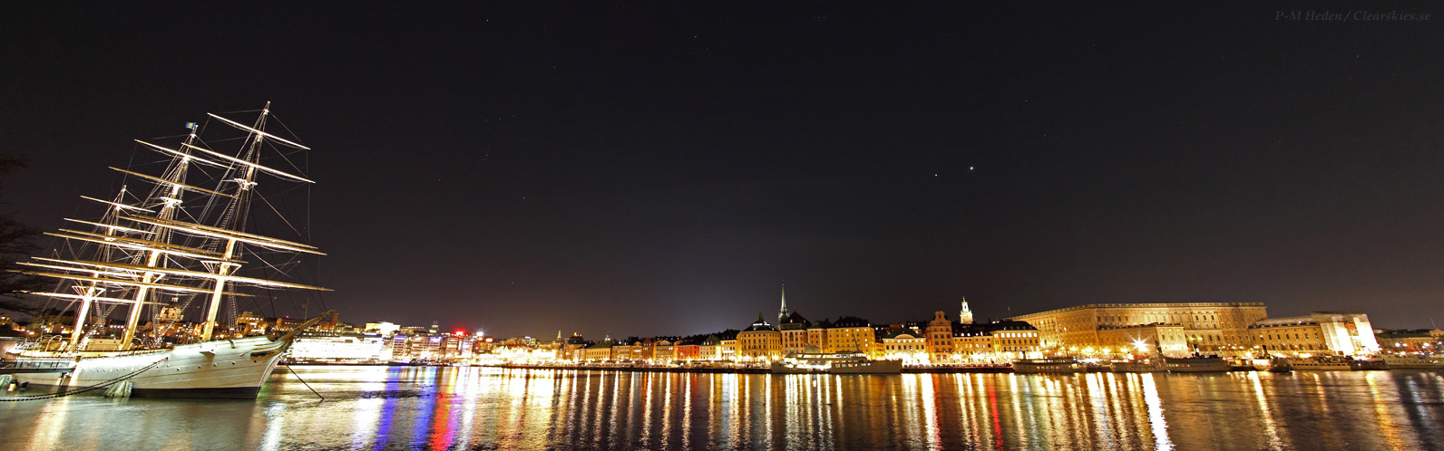 Venus and Jupiter Shine Over Sweden's Night Lights