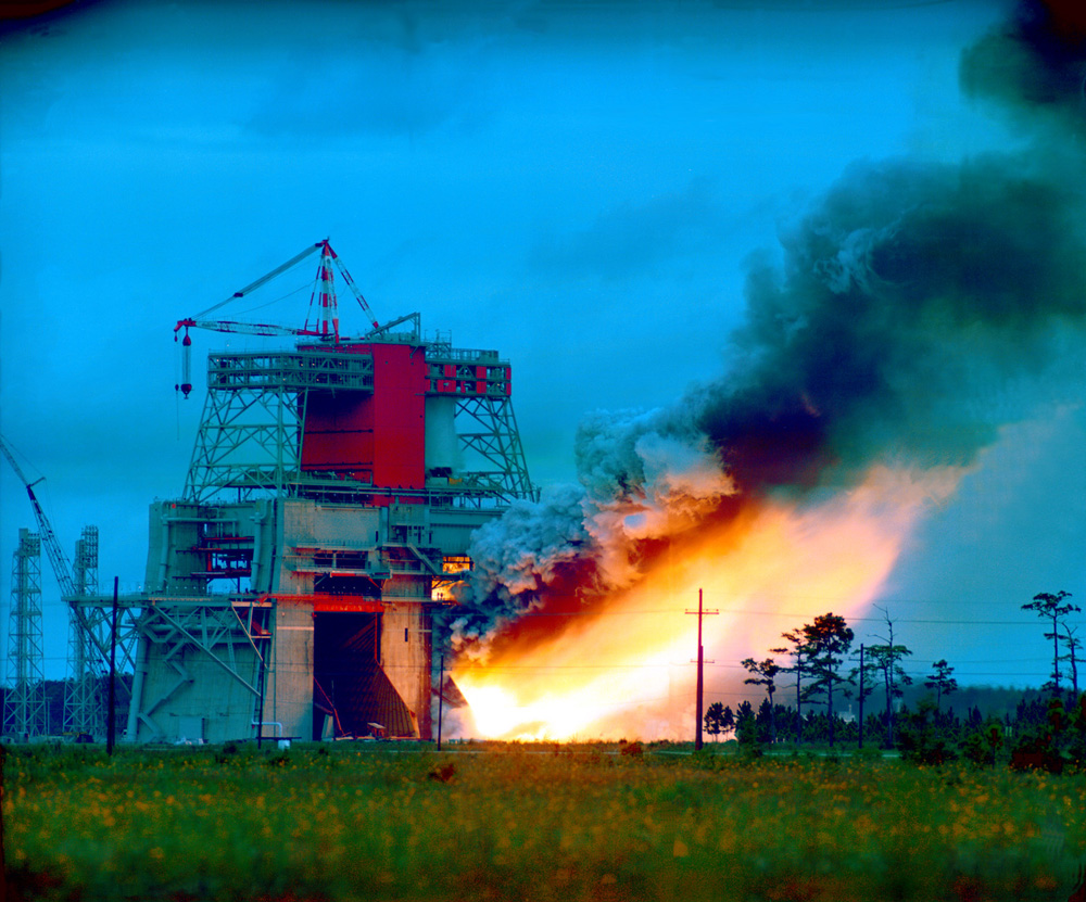 Space History Photo: Huge Saturn V Rocket Stage Test Fired