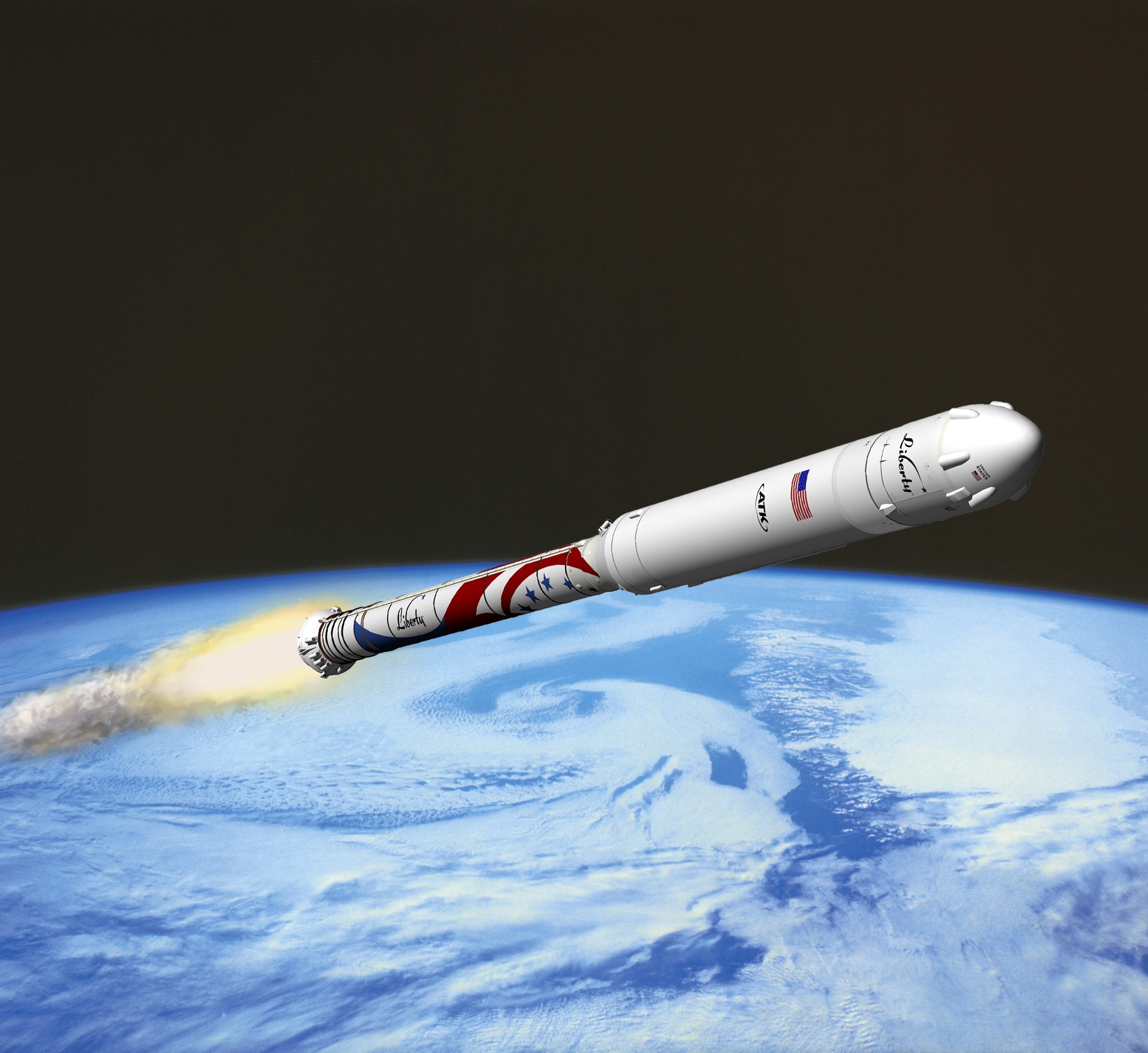 Photos: ATK's Liberty Rocket & Private Space Capsule