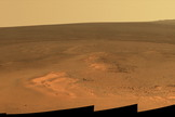 "A Mars outcrop is informally named ""Greeley Haven."""