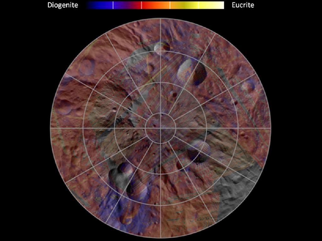 Mineral Diversity at Vesta's South Pole