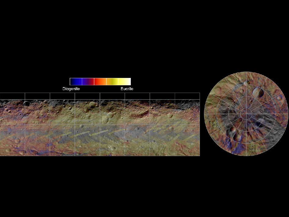 Global Mineral Map of Vesta