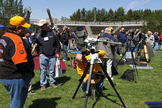 "The sun is the ""star"" attraction during the annual Northeast Astronomy Forum (NEAF) Solar Star Party in New York."