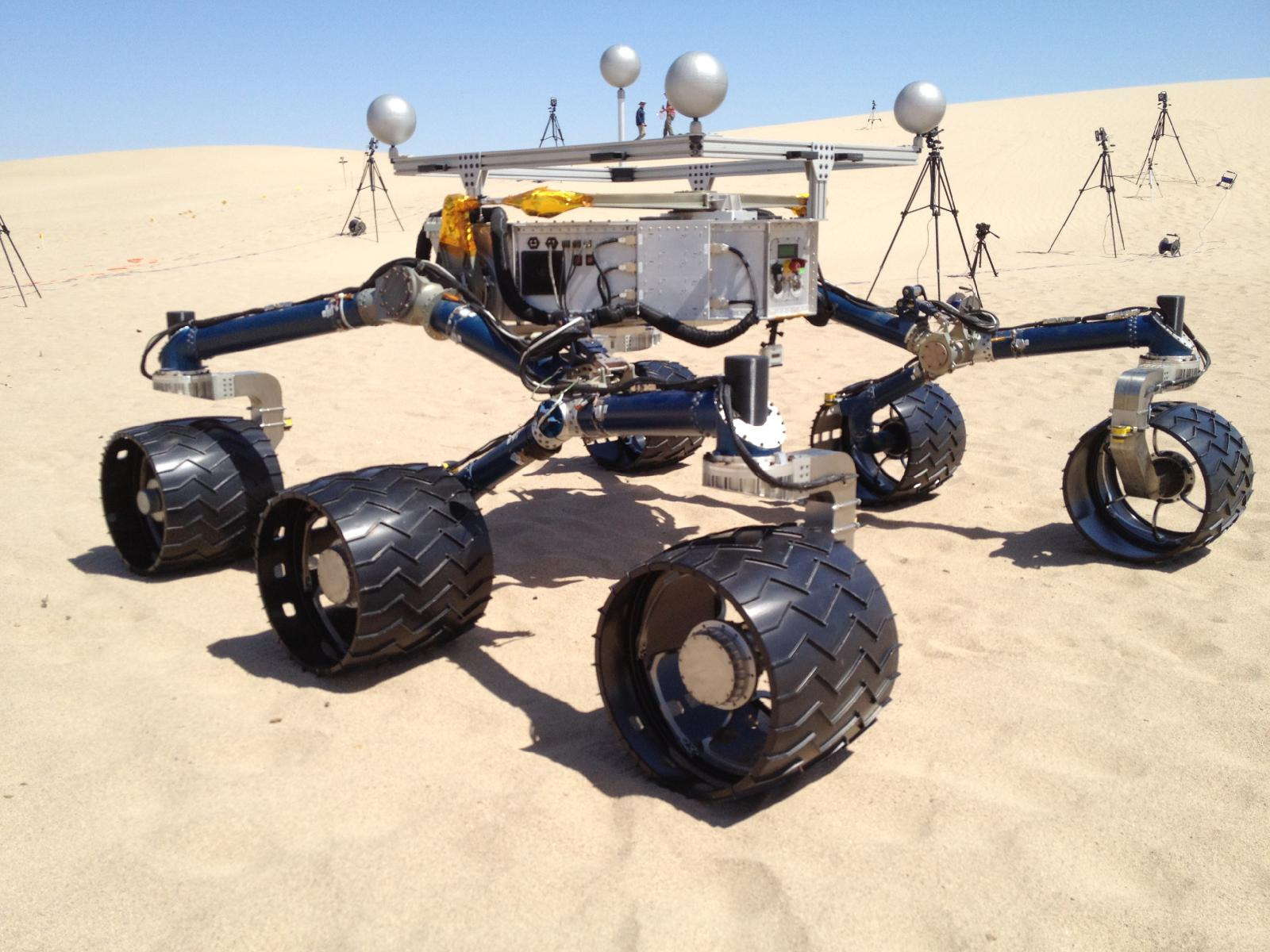 Curiosity Mars Rover Mockup in Death Valley