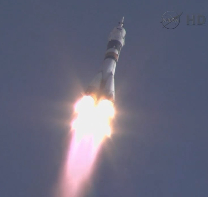 Soyuz Launches Space Station Crew on May 14, 2012