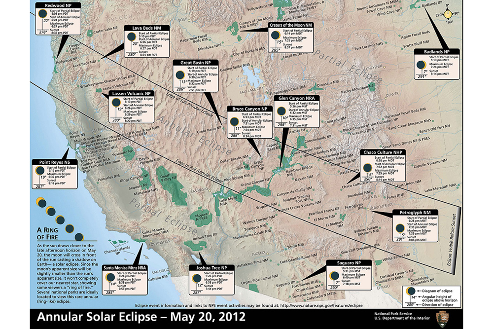 Sunday Solar Eclipse Visible from National Parks