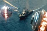 """Shredders descend upon a ship in """"Battleship."""""""