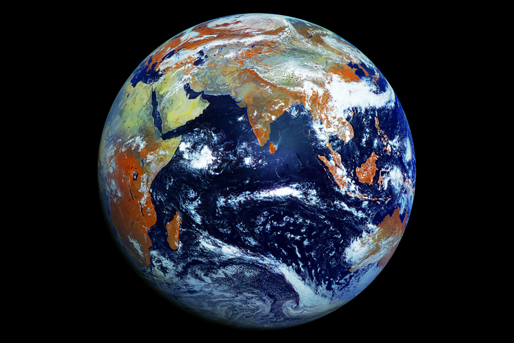 Breathtaking View of Earth Taken by Russian Satellite