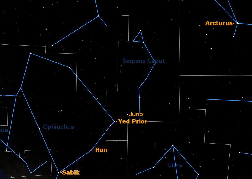 How to Spot Asteroid Juno in the Night Sky