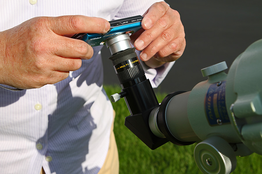 Holding a Point-and-Shoot Camera to the Eyepiece