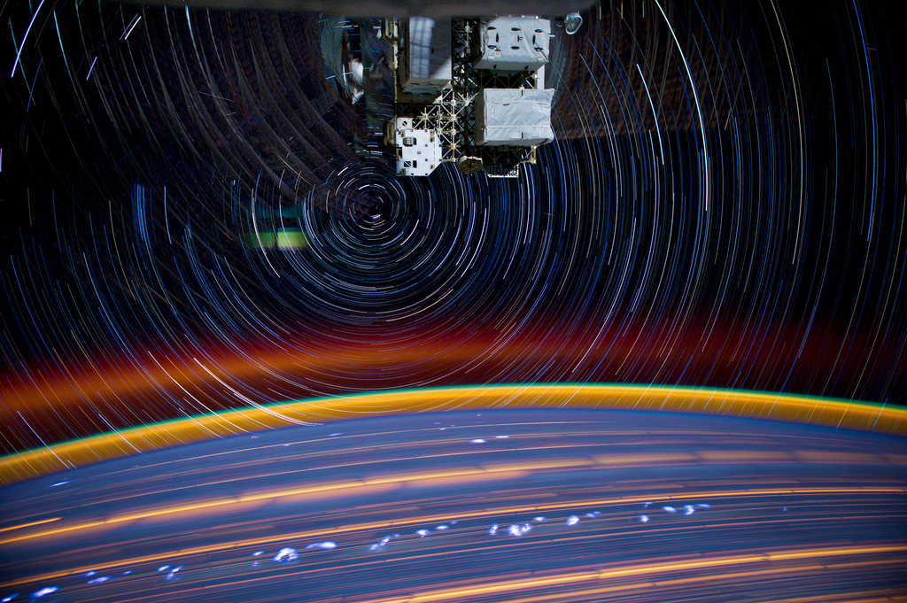 Star Trails Seen from the ISS Swirls