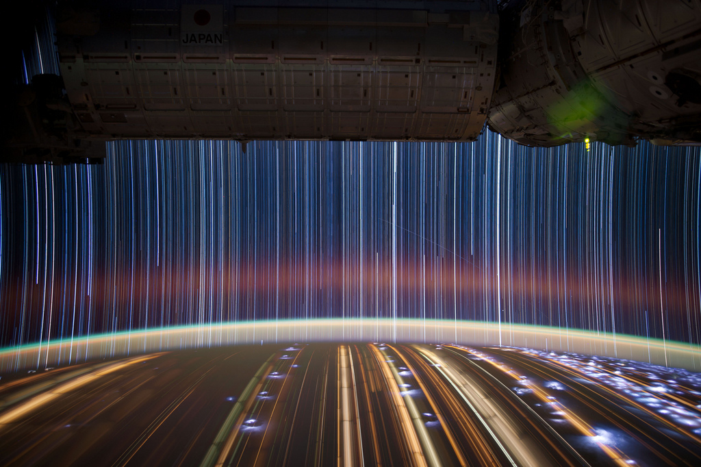 Star Trails Seen from the ISS