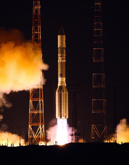 Russian Rocket Launches TV Satellite