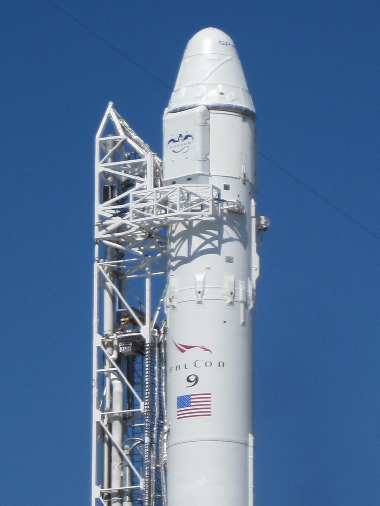 SpaceX's Falcon 9 and Dragon on Launch Pad, May 2012