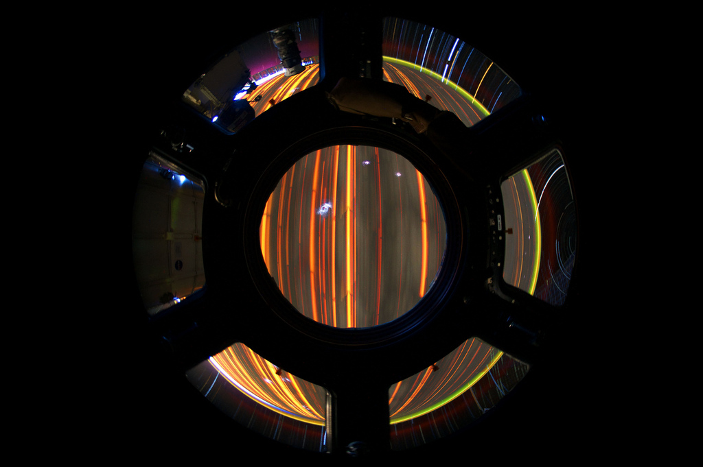Star Trails Seen from the ISS Cupola