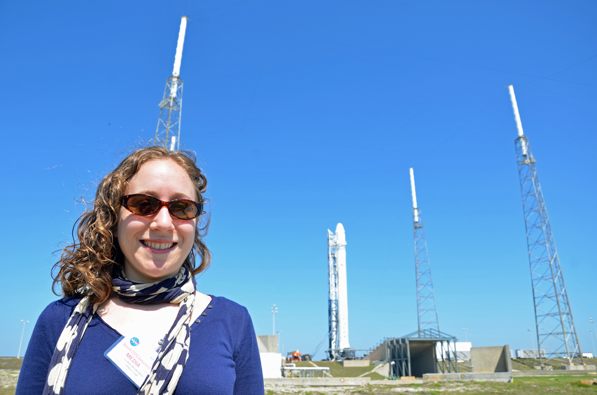 Clara Moskowitz with Falcon 9