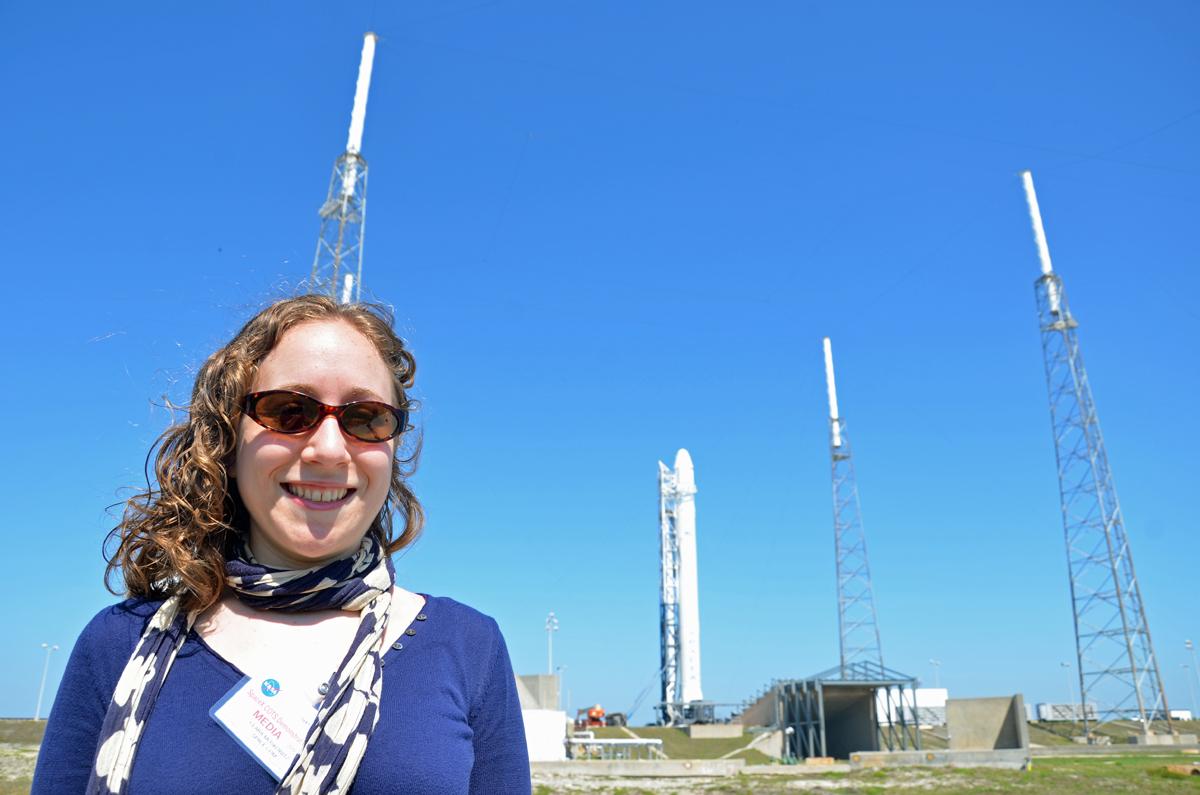 Clara Moskowitz with Falcon 9