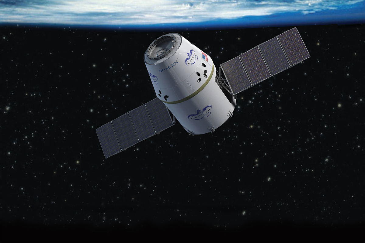 Dragon Capsule in Orbit