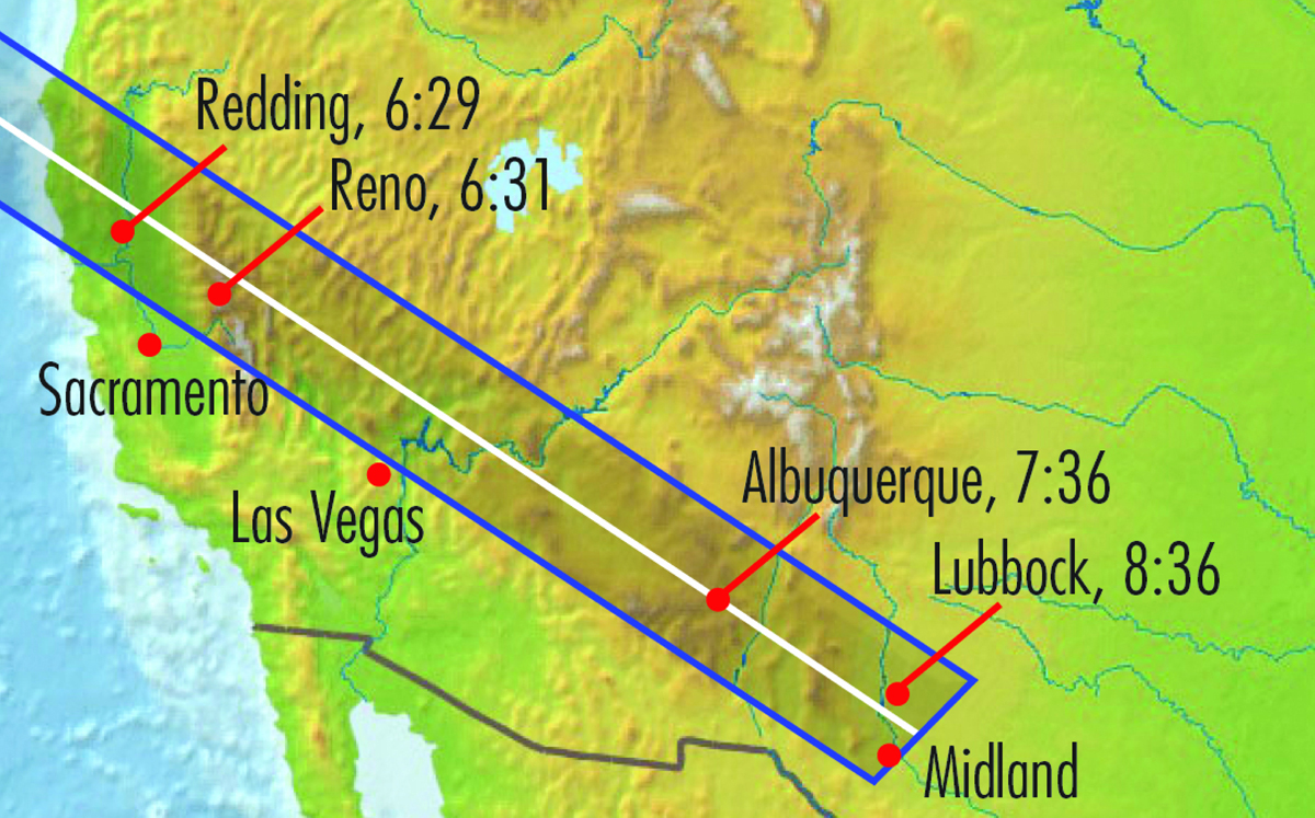 Annular Solar Eclipse of May 20, 2012, Map