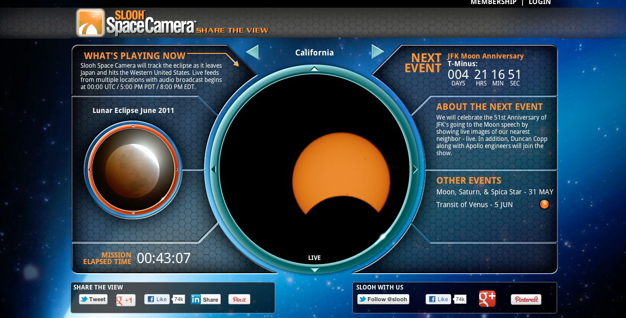 SLOOH Space Camera Image of Solar Eclipse of May 20, 2012