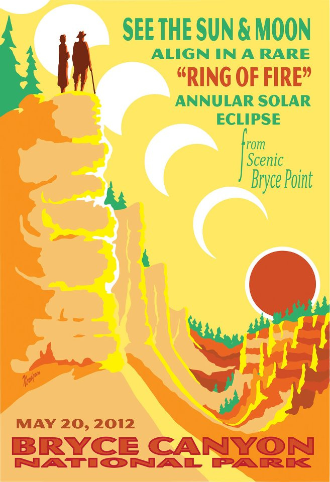Solar Eclipse Bryce Canyon Poster