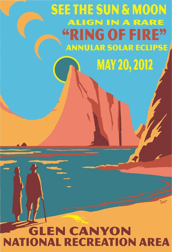 Solar Eclipse Glen Canyon Poster