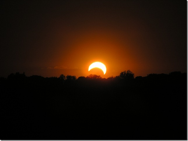 Sunset Solar Eclipse, 5/20/2012: Sam Border