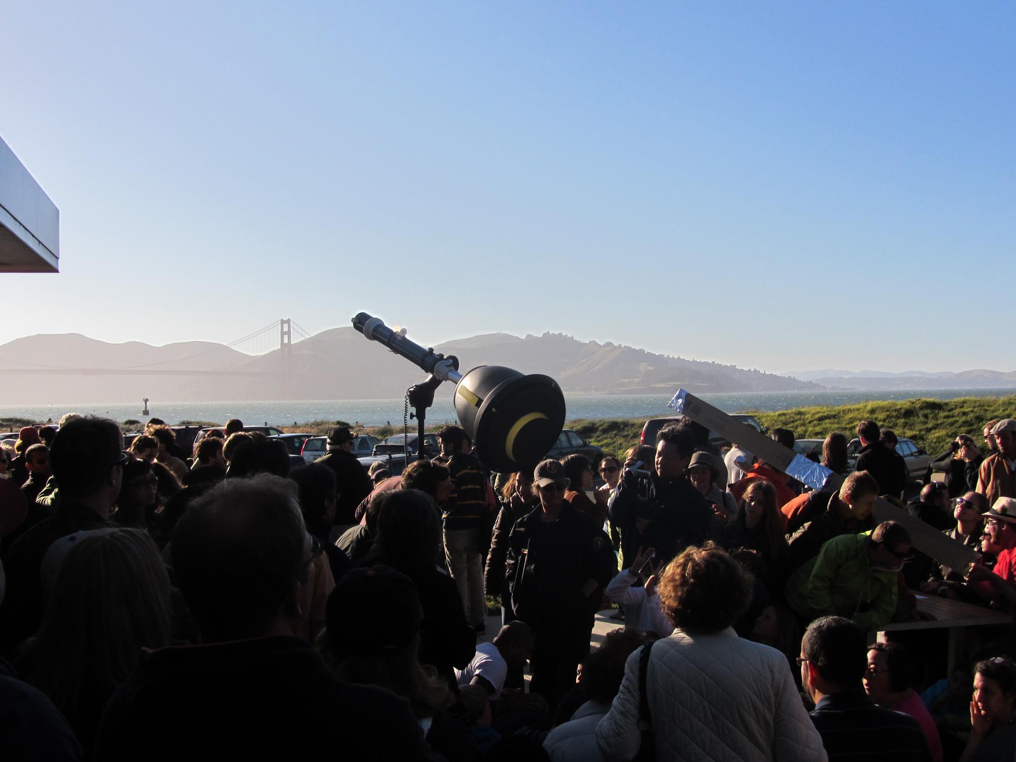 May 2012 Solar Eclipse Over Golden Gate Bridge