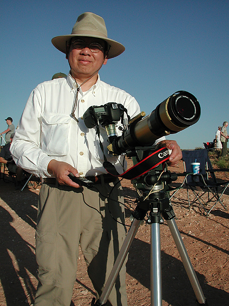 Edwin's Setup for Viewing the Eclipse, May 20, 2012