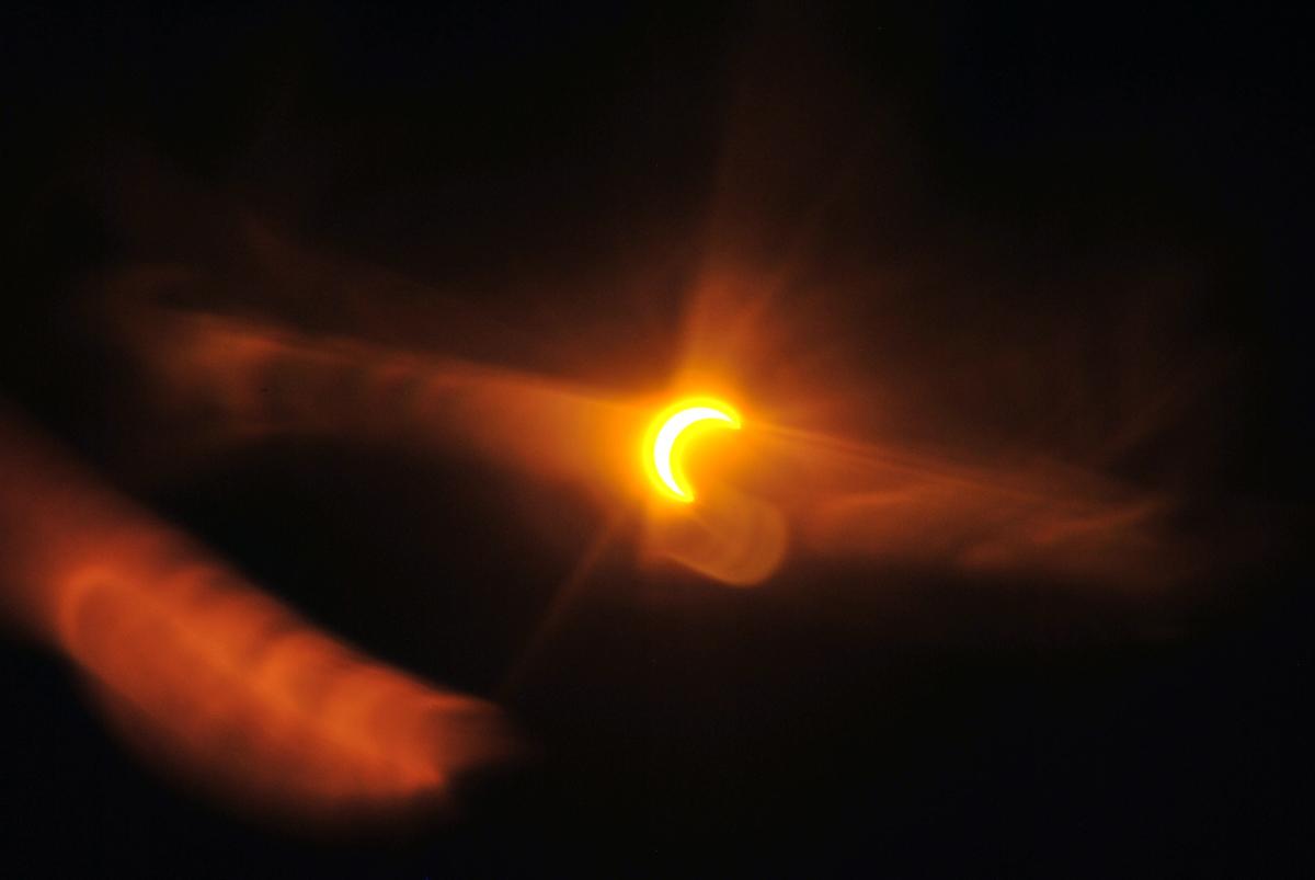 Solar Eclipse Seen in Pahrump, NV