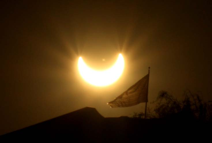 Eclipse and the Flag