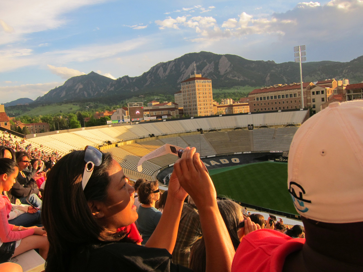 Photographing the Eclipse at the University of Colorado