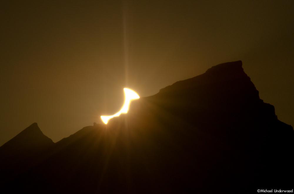 Eclipse Over Uncompahgre Peak