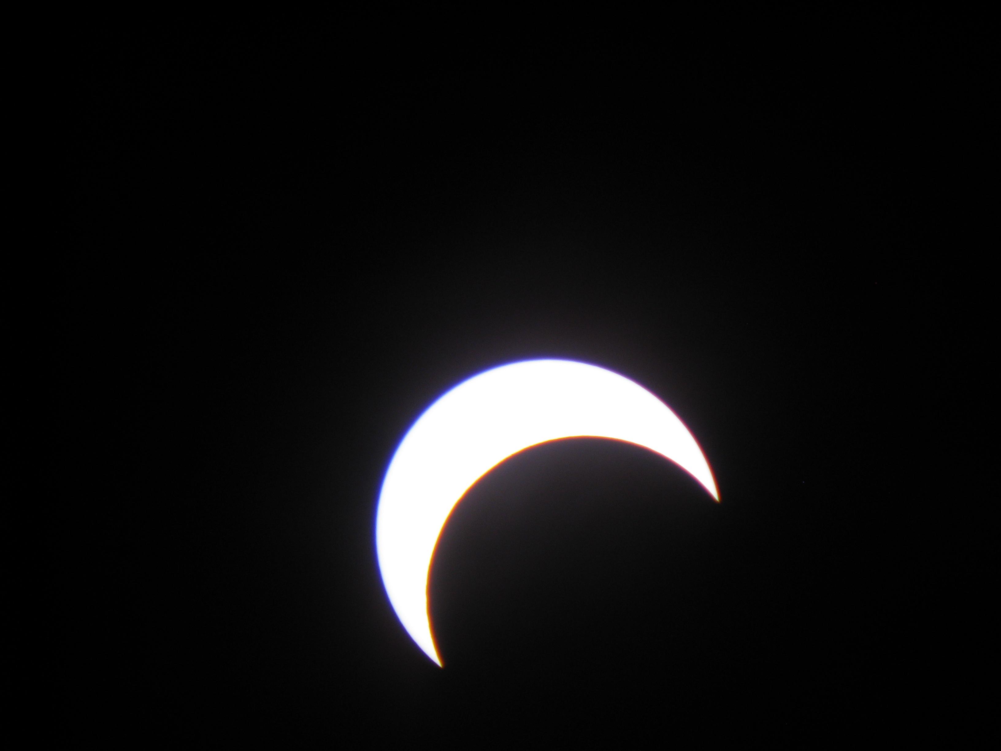 Eclipse Over Mount Shasta