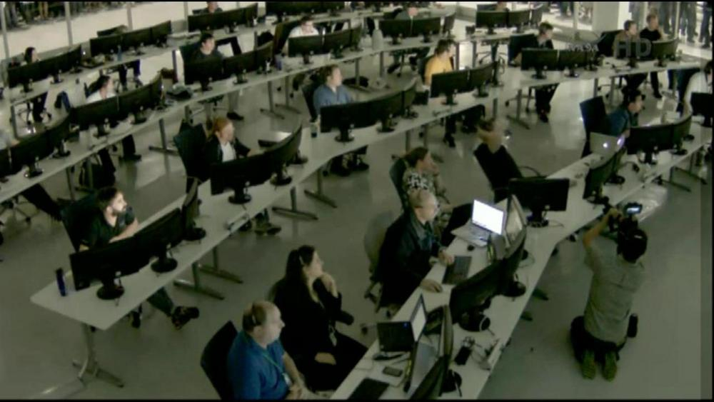 SpaceX Mission Control in Hawthorne, Calif.