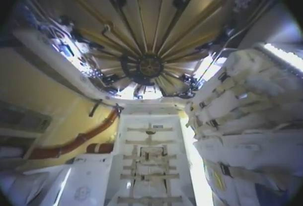 Interior of the Dragon Capsule in Space