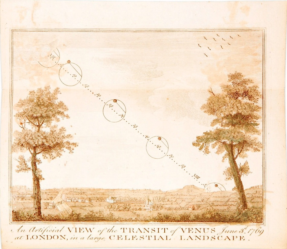 Sketch of Transit of Venus 1769