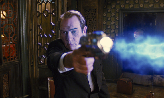 Tommy Lee Jones stars in Columbia Pictures' action adventure comedy Men in Black 3.