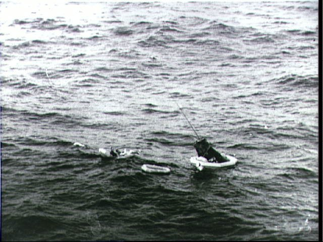 Astronaut Scott Carpenter Being Recovered from Ocean after MA-7 Flight