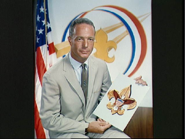 Portrait of Astronaut M. Scott Carpenter with Boy Scout Emblem