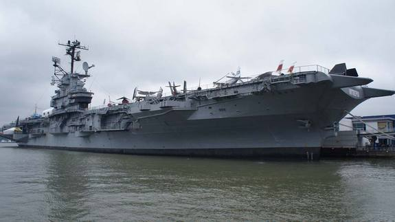 Intrepid Sea, Air and Space Museum is based on the former Intrepid aircraft carrier docked in New York City.