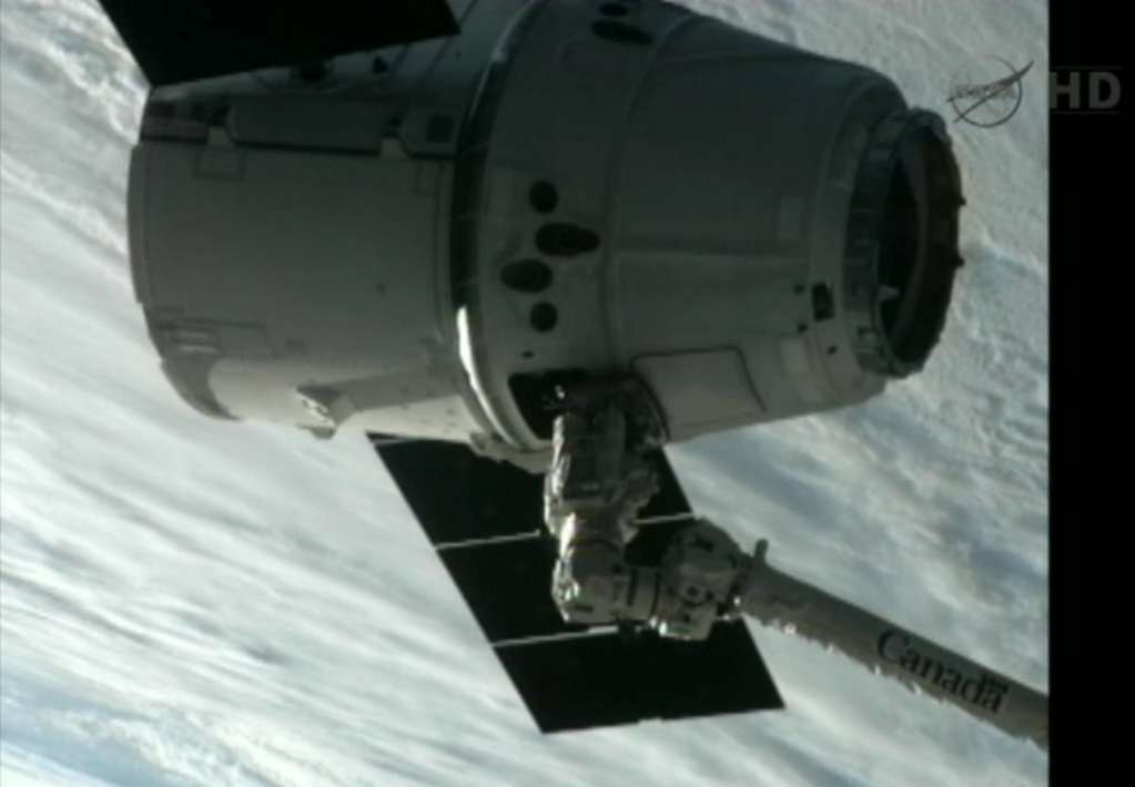 Another View of Dragon at the ISS