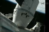 The Dragon capsule is attached to the International Space Station on May 25, 2012.