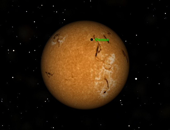 The transit of Venus will take place June 5-6, 2012.