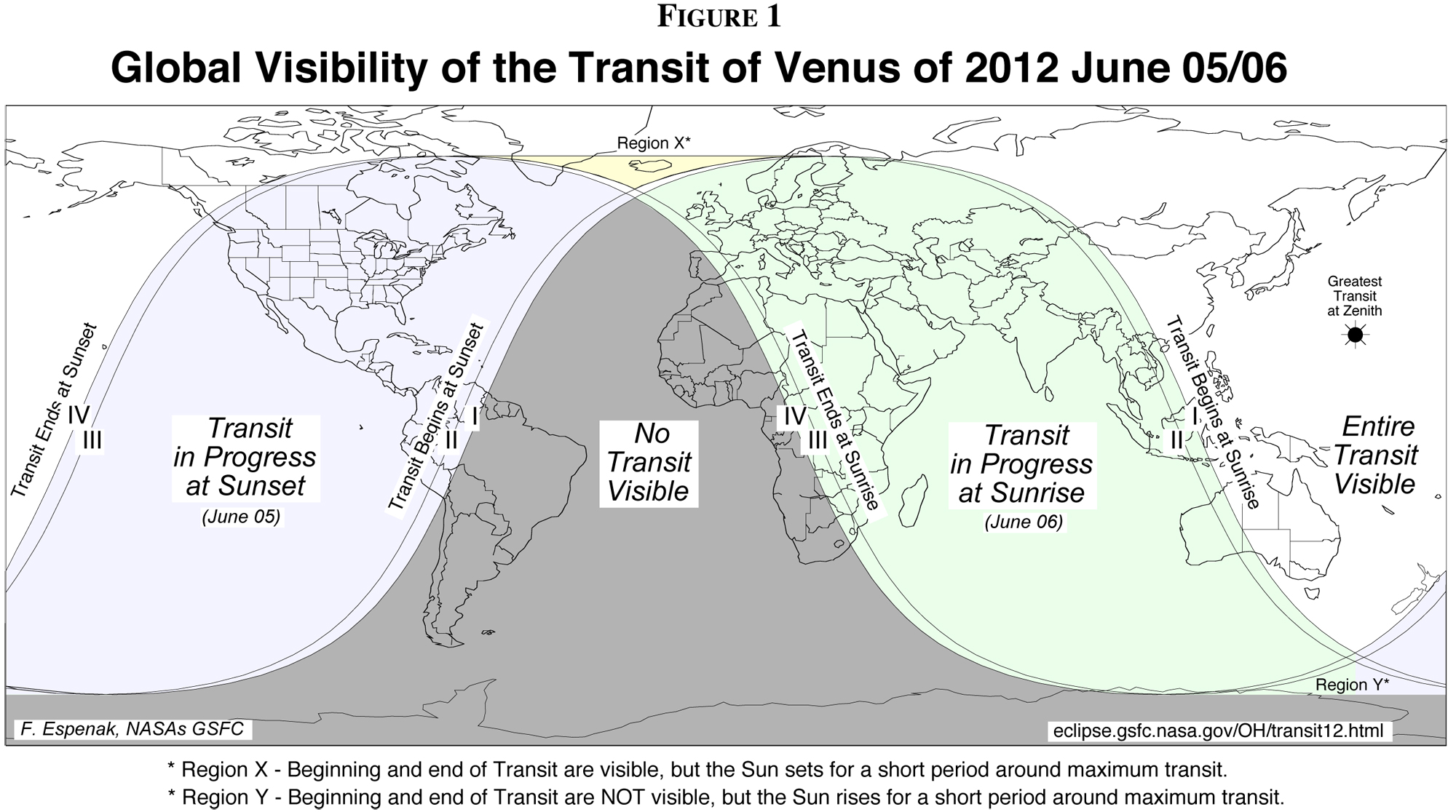Venus Transit 2012 Global Visibility Map