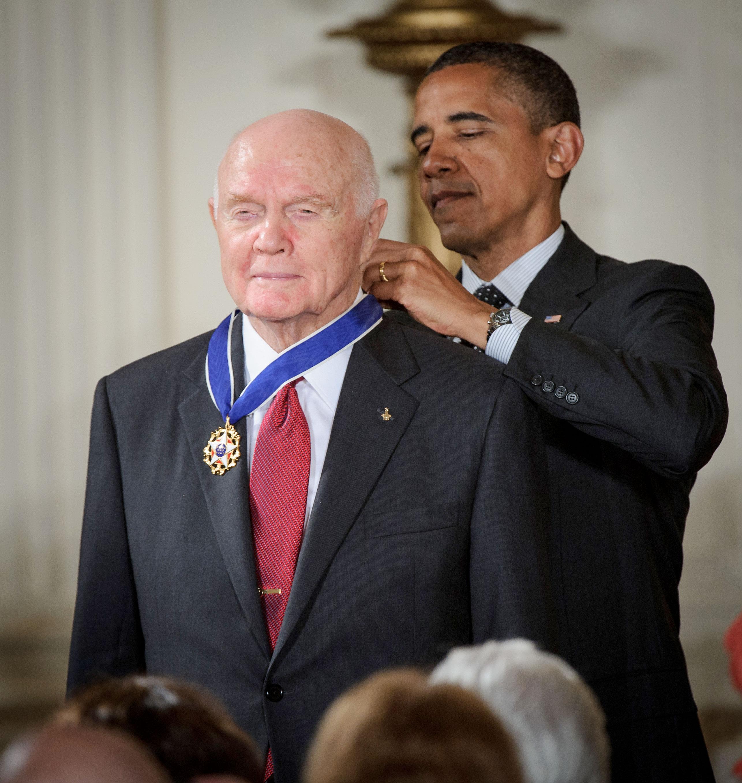 President Obama Awards John Glenn with Medal of Freedom