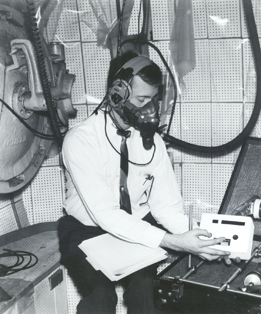Space History Photo: ERC Technician Test Device Developed for Apollo Missions