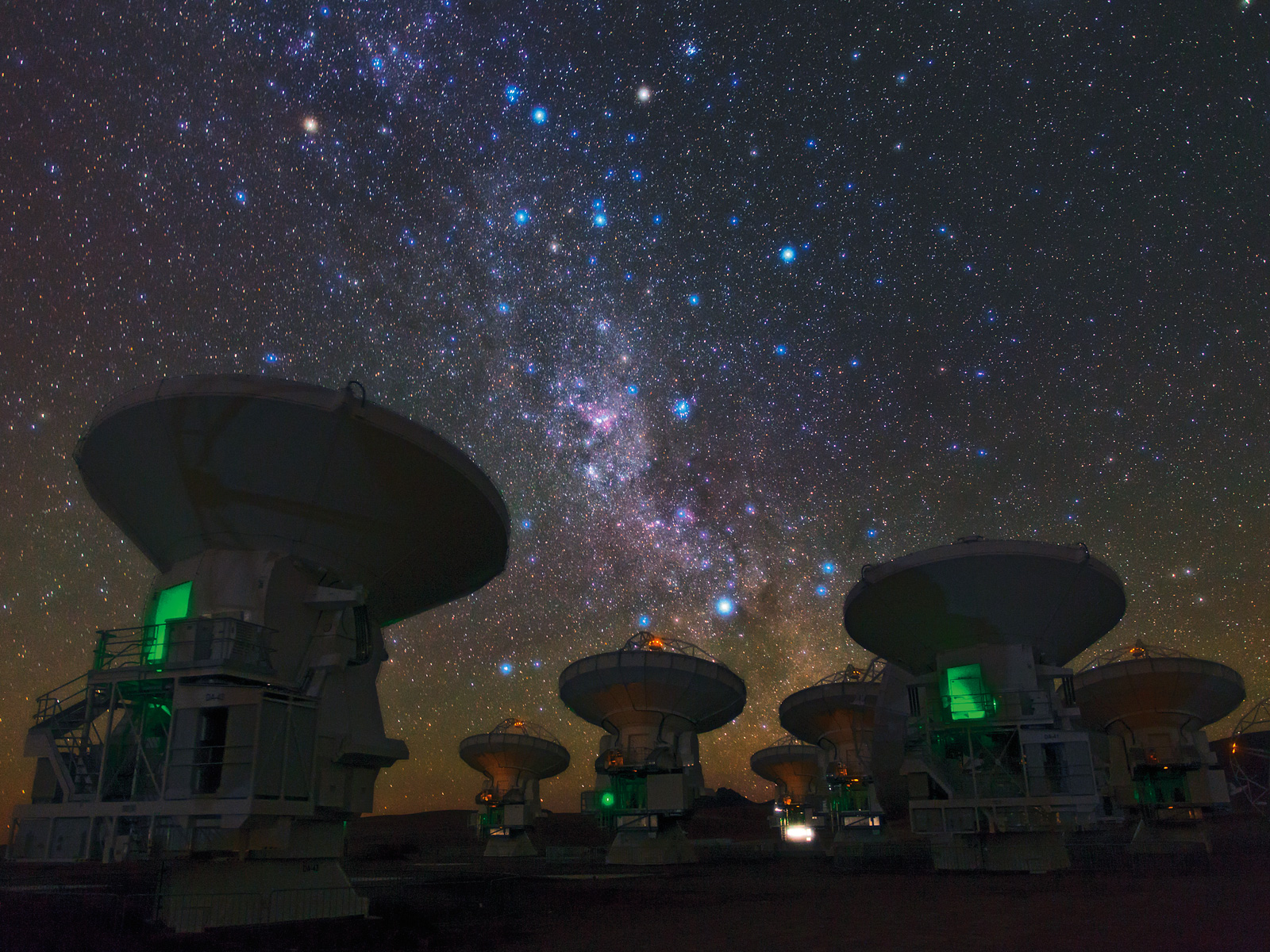 The Southern Milky Way Above ALMA
